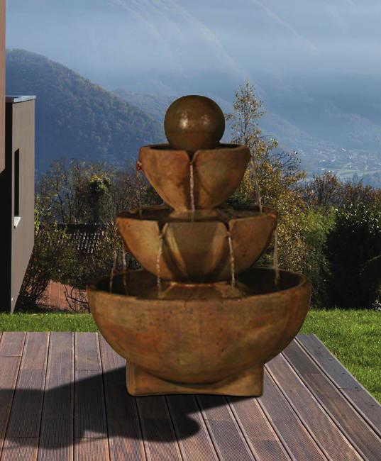 Tall Stone Vessels Fountain