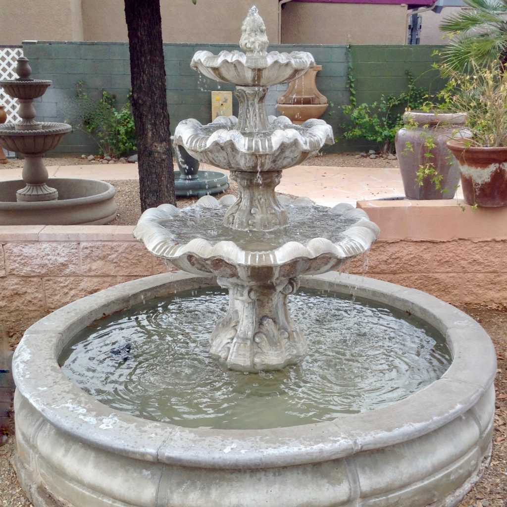 Three Tier Spanish Fountain with Pool Pieces