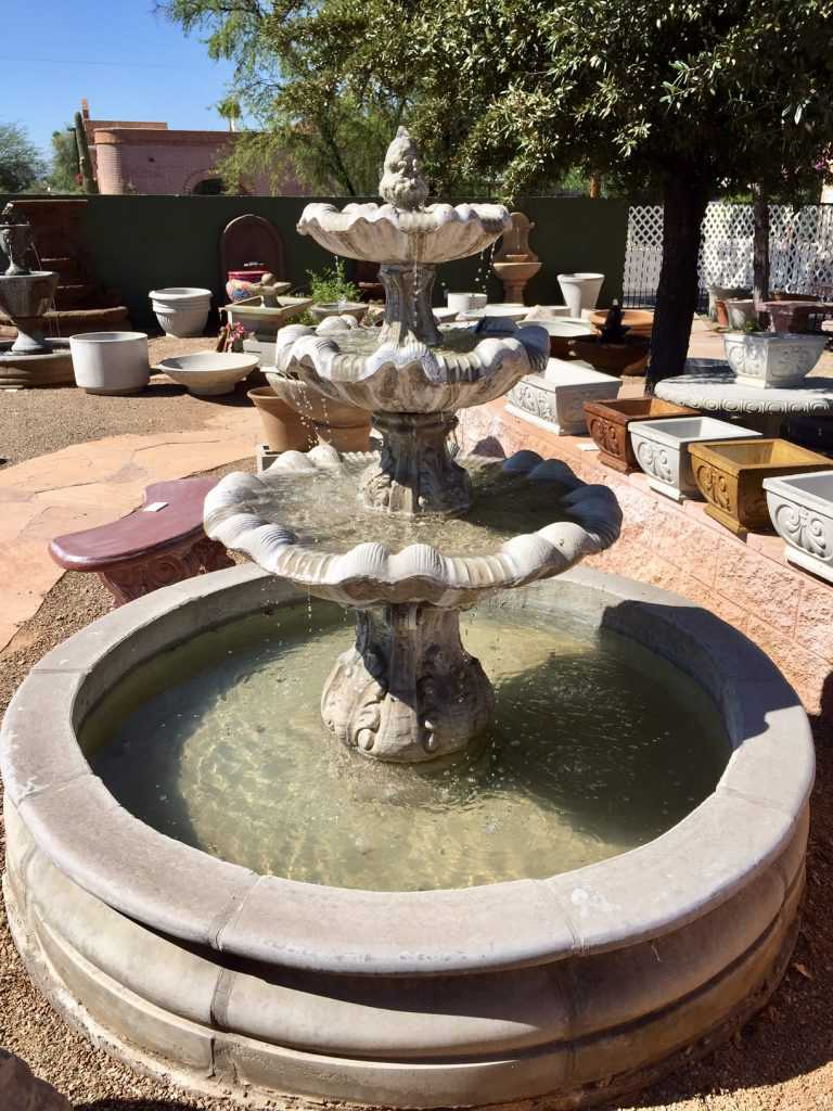 Three Tier Spanish Fountain with 6 Foot Pool
