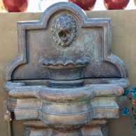 Lion Quatrefoil Wall Fountain, Small