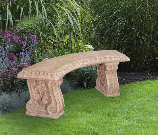 Curved Grapeleaf Bench