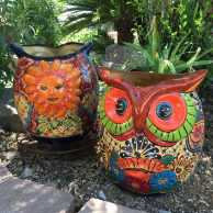 Talavera Owl Planter