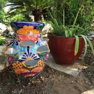 Talavera Strawberry Planter