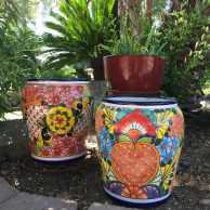 Talavera Maceta Baril Planter
