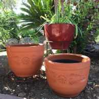 Red Clay Cone Planter