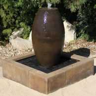 Barrel Fountain w/ Reservoir