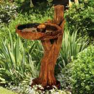Rope 'n' Timber Birdbath