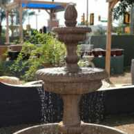 Pioggia Fountain with 55″ Basin