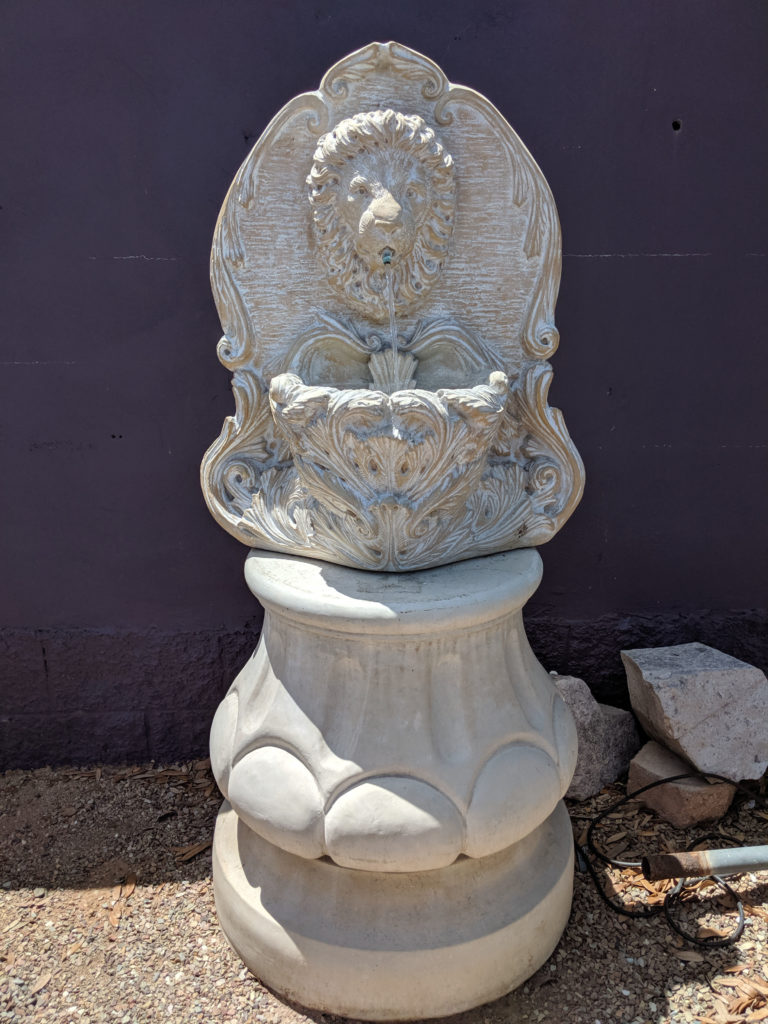 Lion Wall Fountain Pedestal Not Included