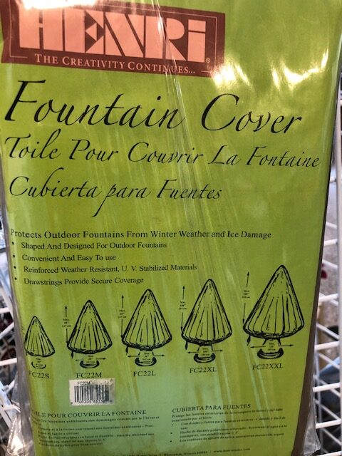 Freeze protection Fountain covers